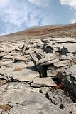blue grey rocks in hilly rocky burren landscape
