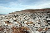 blue grey rocks in rocky burren landscape