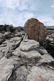 boulder in rocky burren landscape