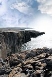 burren cliff edge view