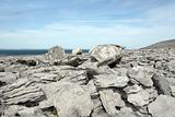 grey rocks in rocky burren landscape