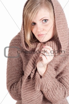 Beautiful woman in cardigan