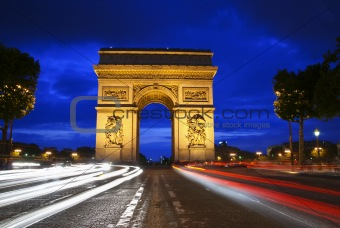 Triumph Arch at night