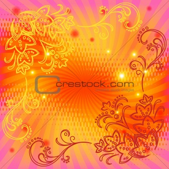 Background pink with a flower pattern