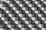 Astract Bricks and Shadows in Black and White