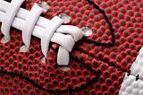 Detail of american football ball, close-up shot