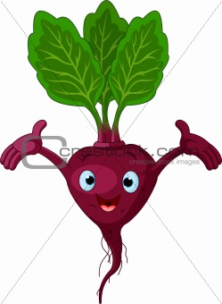 Beetroot Presenting Something