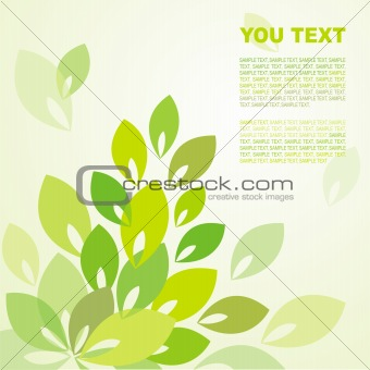 Background with green foliage