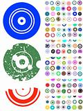 140 Circle Graphic Elements