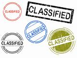 5 Grunge Stamps - CLASSIFIED