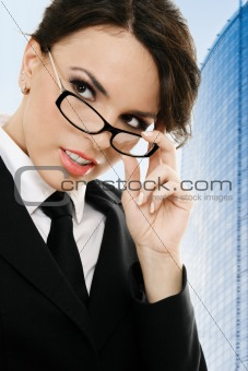 Thoughtful businesswoman