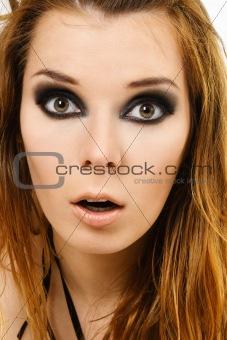 Amazed woman