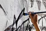 hand paint wall with brush