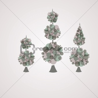 Abstract background with tree green. Vector illustration