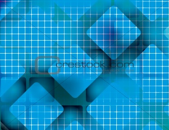 Abstract blue background of squares