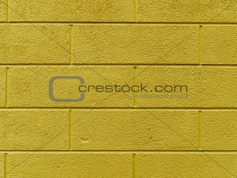 brick wall with psychotropic orange tint