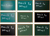set of school blackboards