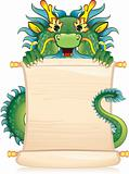 Dragon with scroll
