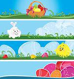 Easter multicolor banners