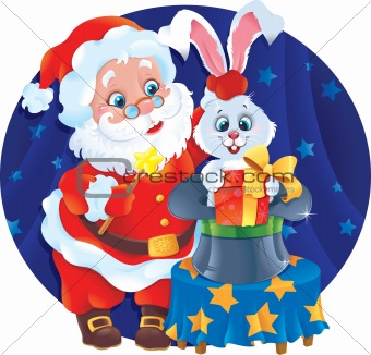 Santa and Rabbit.