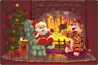 Santa and Tiger.