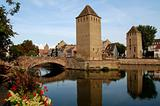 The district of La Petite France in Strasbourg with its bridges