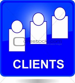 blue square clients button