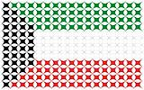 national flag from kuwait country