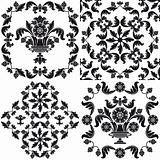 Seamless wallpaper pattern floral, elements