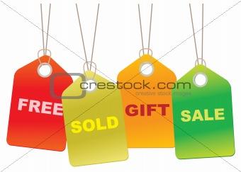 Cardboard Sales Tags