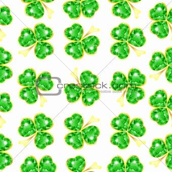 Seamless jewelry shamrock pattern