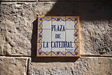 Sign for Plaza De La Catedral Havana
