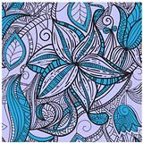 seamless hand drawn  floral pattern