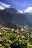 Madeira mountain scenery, Lombo da Serra dos Judeus - Portugal. View of Pico de Selada, Pico da Escada