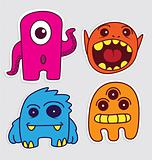 Cute Little Monsters Sticker V1