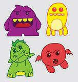 Cute Little Monsters Sticker V2
