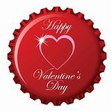 happy valentine's day bottle cap