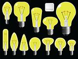light bulbs shapes