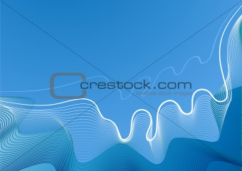 background abstract linear waves blue