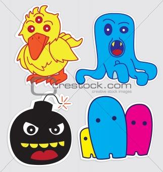 Cute Little Monsters Sticker V3
