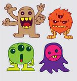 Cute Little Monsters Sticker V4
