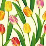 Seamless tulips