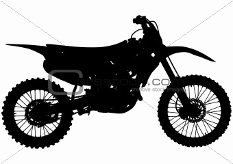 Motocross bike silhouette