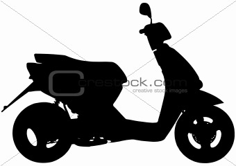 Moped silhouette