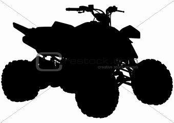 Quad bike silhouette