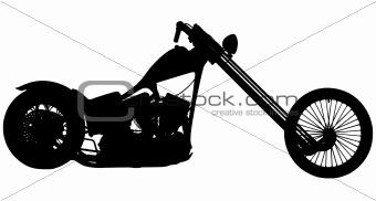 Chopper motorbike silhouette