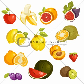 Fruits Set isolated