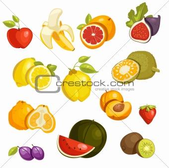Fruits Set isolated