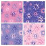 Fire Flower Pattern in Pink and Lavender