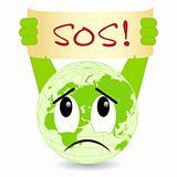 Ecology concept. SOS!